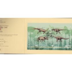 O) 2008 GERMANY, POSTAL CARD, DINOSAURS-PLATEOSAURUS,TYRANNOSAURUS,TRICERATOPS, DIPLODOCUS, XF