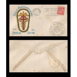 B)1950 CARIBE, HOSPITAL, CHILDREN, TUBERCULOSIS FUND FOR CHILDREN'S HOSPITALS, FDC