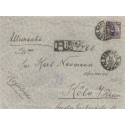 O) 1911 BRAZIL, 500 REIS -PRESIDENT MANUEL FERRAZ DE CAMPOS SALLES,REGISTERED MAIL FROM CAMPINAS TO GERMANY SINGLE RATE,