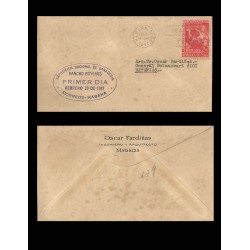 B)1947 CARIBE, COW AND MILKMAID, NATIONAL EXHIBITION OF LIVESTOCK, CIRCULATD COVER FROM TO MATANZAS, XF