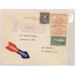 O) 1933 HONDURAS, AIRPLANE CANCELLATION, COLON 20 CENTAVOS, ARCHITECTURE -5 CENTAVOS ORO, LANDSCAPE TEGUCIGALPA,PRISTINE, XF