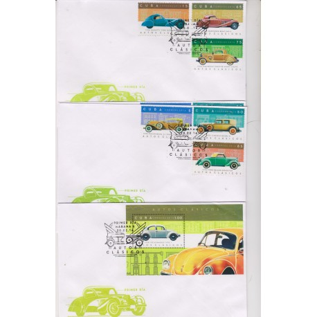 O) 2016 CARIBE, CARTS OLD CLASSICS FROM 1931 TO 1938, FDC XF