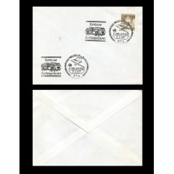 B)1967 GERMANY, BUILDING, DEUTSCHE POST, POSTAL SERVICE, AIR MAIL, BAD NEUSTADT CANCELLATION, MARCOPHILIA UNUSED COVER, XF