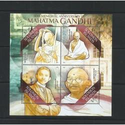 O) 2013 SOLOMON ISLANDS, MAHATMA GANDHI 1869 TO 1948, ATTORNEY - POLITICAL THINKER, SOUVENIR MNH
