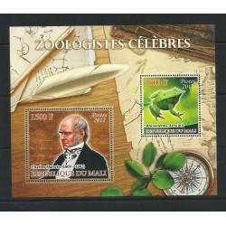 O) 2012 MALI, CHARLES DARWIN-ENGLISH NATURALIST- BIOLOGICAL EVOLUTION THEORY, FROG-RHINODERMA DARWINII, SOUVENIR MNH