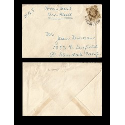 B)1948 GREAT BRITAIN, GEORGE V, AIRMAIL, CIRCULATED COVER FROM GREAT BRITAIN, XF
