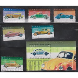 O) 2016 CARIBE, CARTS OLD CLASSICS FROM 1931 TO 1938, SET MNH