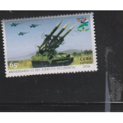 O) 2016 CUBA-CARIBE,CAR LAUNCHES MISSILES, 55 ANNIVERSARY WESTERN ARMY, MNH