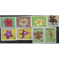 O) 2016 CARIBE, FLOWERS OF AMERICA - MUSEUM OF NATURAL HISTORY, SET MNH