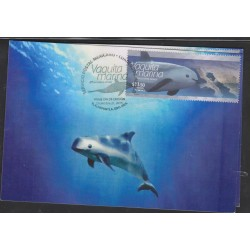 O) 2015 MEXICO, VAQUITA MARINA-LITTLE COW MARINE -PHOCOENA SINUS, CETACEAN -MARSOPA,MAXIMUM CARD, XF