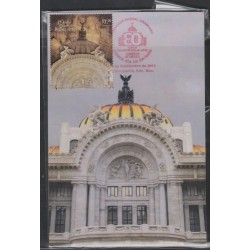 O) 2014 MEXICO, CULTURAL HERITAGE PALACE OF FINE ARTS- ARCHITECTURE MODERNISM NEOCLASSICAL, MAXIMUM CARD, XF