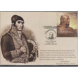 O) 2014 MEXICO, JOSE MARIA MORELOS DE PAVON -LIDER INSURGENTE OF MEXICAN WAR OF INDEPENDENCE, MAX. CARD XF