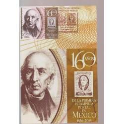 O) 2016 MEXICO, MIGUEL HIDALGO Y COSTILLA -REVOLUTIONARY PRIEST NOVOHISPANO, ANNIVERSARY OF THE FIRST STAMP, MAX.CARD XF