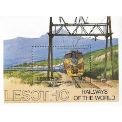 B)1972 LESOTHO, RAILWAYS, MOUNTAIN, , 2M, THE BLUE TRAIN, SC 458 A88, SOUVENIR SHEET, MNH