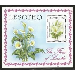 B)1987 LEGOTHO, NATURE, FAUNA AND FLORA, PIG-LILY, MOHALALITOE, SC 591 A111, SOUVENIR SHEET,MNH