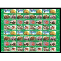 B)2016 VENEZUELA, TREE, CROCODILE, TURTLE, FLORA, FAUNA, FLOWERS, BIODIVERSITY, SOUVENIR SHEET, MULTIPLE, MNH
