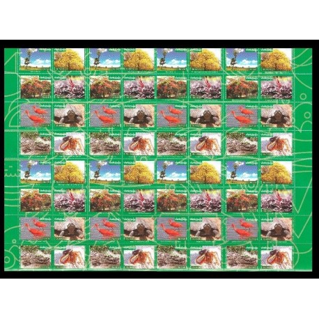 B)2016 VENEZUELA, TREE, CROCODILE, TURTLE, FLORA, FAUNA, FLOWERS, BIODIVERSITY, SOUVENIR SHEET, MULTIPLE, MNH