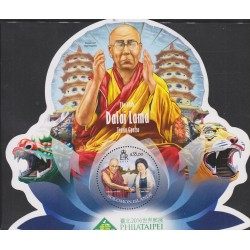 B)2016 SOLOMON ISLAND, DRAGON AND TIGER PAGODAS, DALAI LAMA XIV AND KAOHSIUG MAYOR CHEN CHU, MNH
