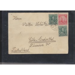 O) 1912 BRAZIL, DISCOVERER OF BRAZIL PEDRO ALVARES CABRAL, 100 REIS RED, COVER TO GERMANY, XF