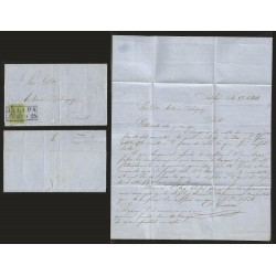 G)1862 MEXICO, 1 REAL, JALAPA DATED BOX CANC., CIRCULATED COMPLETE LETTER TO PEROTE, XF