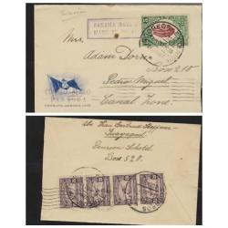 O) 1933 ECUADOR, COCOA-CACAO, 5 CENTAVOS - CENTENARY FOUNDATION REPUBLICA, TO CANAL ZONE - PANAGRA MAIL, XF