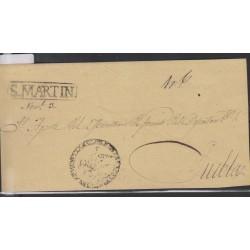 O) 1845 MEXICO, COVER PUEBLA SAN MARTIN PU230-5 - S.MARTIN BLACK, XF