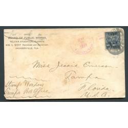 O) 1899 CARIBE, US OCCUPATION IN CUBA - USA, GUANAJAY CANCEL MILITARY, PRESIDENT ULYSSES J S. GRANT.VERY RARE