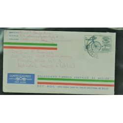 O) 1992 MEXICO, MEXICO EXPORTA BICYCLE, COVER TO UNITED STATES, XF