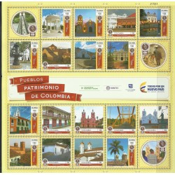 O) 2016 COLOMBIA, ARCHITECTURE,FOLKLORE, HERITAGES,TOWNS, LANDSCAPES, PEOPLES HERITAGE OF COLOMBIA-HISTORY, BLOCK MNH