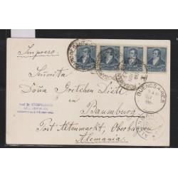 O) 1900 ARGENTINA, BERNARDINO RIVADAVIA -1/2 CENTAVO BLUE, ON THE BACK PAMPERO SAYING TO HIS LADY AND HORSE, POSTAL CARD XF