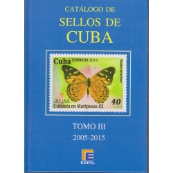 O) 2016 CARIBE, CATALOG STAMPS OF CUBA 2005 TO 2015 - TOMO III, FULL COLOR, EDIFIL, XF