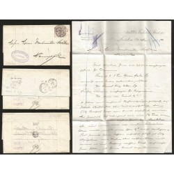 B)1885 UK, LONDON DATED CANC., SINGER, WITTHAUS & CO LONDON DATED OVAL VIOLET SEAL, PAID IN NY, US, XF