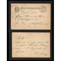 B)1878 GERMANY, 5 EMOBOSSED, CIRCULAR DATED NEUMÜNSTER CIRCULAR CANC., CIRCULATED POSTAL STATIONARY, XF