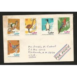 O) 1974 CARIBE, EXTENDED BIRDS, RAPHUS CUCULLATUS, DINORNITHIDA, PINGUINUS, PSITTACIDAE, ECTOPISTES, COVER TO USA,