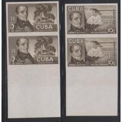 O) 1940 CARIBE, PROOF,JOSE MARIA HEREDIA, POLITICAL -POET, TREE PALMERA, WATERFALL NIAGARA, 5 C. , 10 C.
