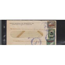 O) 1936 NICARAGUA, 5 CENTAVOS - RESELLO-OVERPRINTED, 1/2 CENTAVO, CORINTO, XF