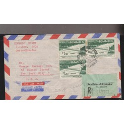 O) 1958 ECUADOR, 1.30 SOLES- SUSPENSION BRIDGE 1958 GONZALO ICASA CORNEJO,RIVER DAULE, CERTIFIED TO USA, XF