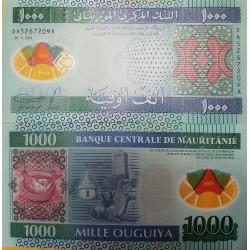 O) 2014 MAURITANIA, BANKNOTE - POLYMER, 1000 OUGUIYA UNC- MRO, CAMEL, CULTURE