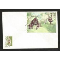 E)1991 REPUBLIC OF CONGO, GORILLA, MONKEYS, ANIMAL, JUNGLE, FDC