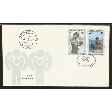 E)1979 VENEZUELA, INTERNATIONAL YEAR OF THE CHILD, FDC