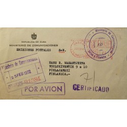 E)2012 JAPAN, KABUKI THEATER, JAPANESE INDUSTRIAL REVOLUTION, AIR MAIL, CIRCULATED COVER TO HABANA, RARE DESTINATION, XF