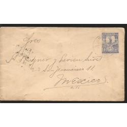 E)1899 VENEZUELA, UNITED STATES OF VENEZUELA, SIMON BOLIVAR-10 CENTIMOS, SHIELD OF THE REPUBLIC, POSTAL UNION, POSTCARD PAID.