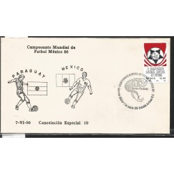 J) 1983 MEXICO, PARAGUAY-MEXICO, BALL, SPECIAL CANCELLATION, II WORLD YOUTH FOOTBALL CHAMPIONSHIP, FDC