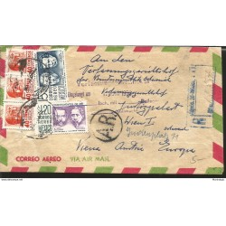 E) 1945 MEXICO, AGA COMPANY S.A, 25 CENT PRINTED, AIR MAIL, CIRCULATED COVER FROM MEXICO TO HOUSTON, TEXAS, XF