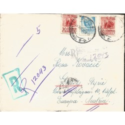 J) 1953 MEXICO, MICHOACAN DANCE OF THE MOROS, VERACRUZ ARCHEOLOGY, MULTIPLE STAMPS, REGISTERED, AIRMAIL