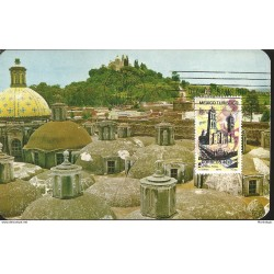 J) 1970 MEXICO, MEXICO TURISTIC, CHURCH OF THE 7 NAVES. BACKGROUND SHOWS CHURCH OF THE