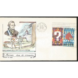 J) 1970 MEXICO, IX GENERAL CENSUS OF POPULATION AND V AGROPECUARIO AND EJIDAL, PAINTING, SET OF 2 FDC