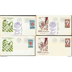 J) 1970 MEXICO, V CENSUS AGROPECUARIO Y EJIDAL, HANDS, WITH EMBOSSED, SET OF 4 FDC