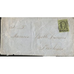 J) 1866 MEXICO, IMPERIAL EAGLE, COMPLETE LETTER, INTERIOR MAIL WITHIN GUANAJUATO