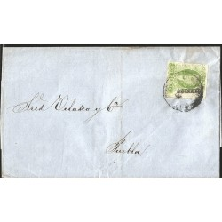 J) 1864 MEXICO, IMPERIAL EAGLE, COMPLETE LETTER, CIRCULATED COVER, INTERIOR MAIL WITHIN GUANAJUATO
